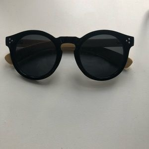 Kuma Black Oversized Sunglasses